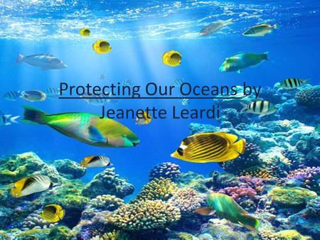 Protecting Our Oceans by Jeanette Leardi