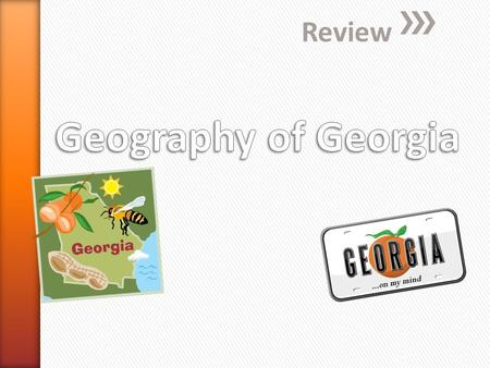 Review. » Which statement describes Georgia's relative location? a. Georgia is a northeastern state. b. Georgia is located north of Florida. c. Georgia.