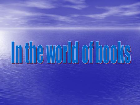 In the world of books.