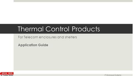 Thermal Control Products