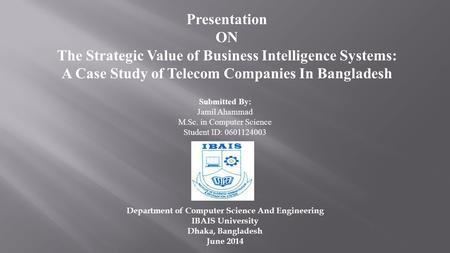 business intelligence case studies telecom