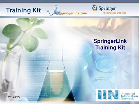 SpringerLink Training Kit