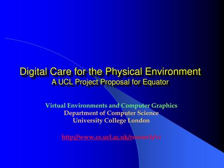 Virtual Environments and Computer Graphics