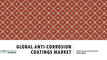 GLOBAL ANTI-CORROSION COATINGS MARKET-  Opportunity Analysis on the basis of Product, End Use, and Geography, Forecast to 2025