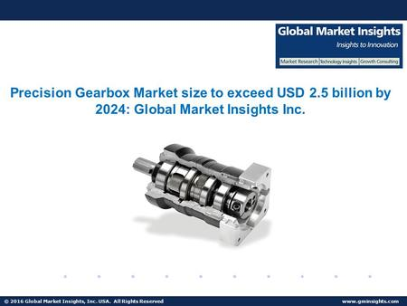 © 2016 Global Market Insights, Inc. USA. All Rights Reserved  Fuel Cell Market size worth $25.5bn by 2024 Precision Gearbox Market size.