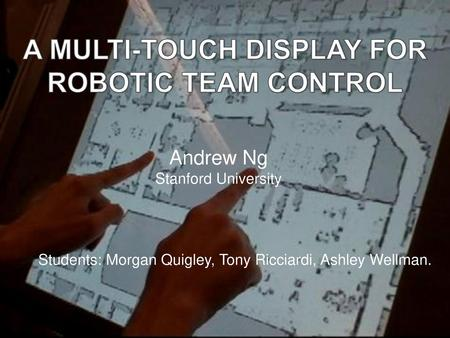 A Multi-Touch Display for Robotic Team Control