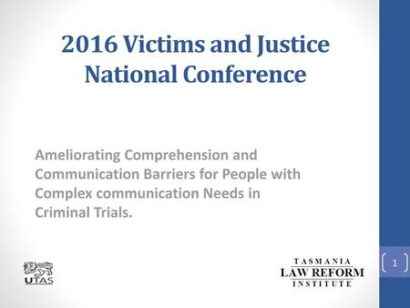 2016 Victims and Justice National Conference