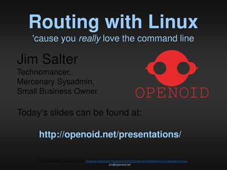 Routing with Linux 'cause you really love the command line