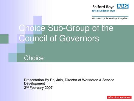 Choice Sub-Group of the Council of Governors