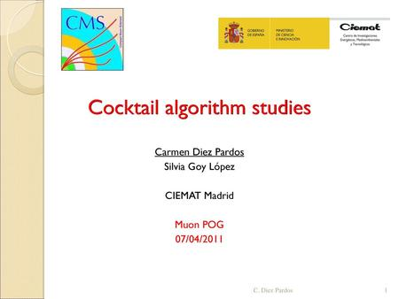 Cocktail algorithm studies