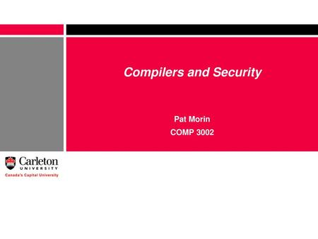 Compilers and Security