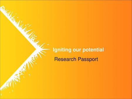 Research Passport.