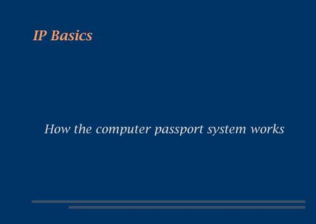 How the computer passport system works
