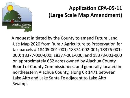 Application CPA (Large Scale Map Amendment)