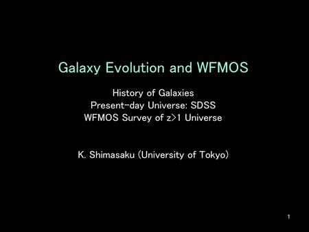 Galaxy Evolution and WFMOS