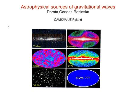 Gravitational Waves What are they? How can they be detected?