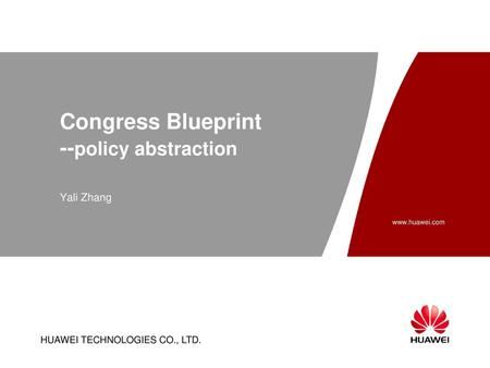 Congress Blueprint --policy abstraction