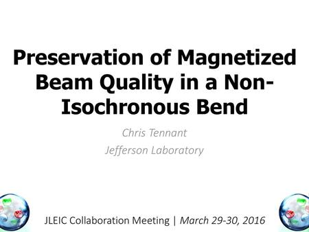 Preservation of Magnetized Beam Quality in a Non-Isochronous Bend