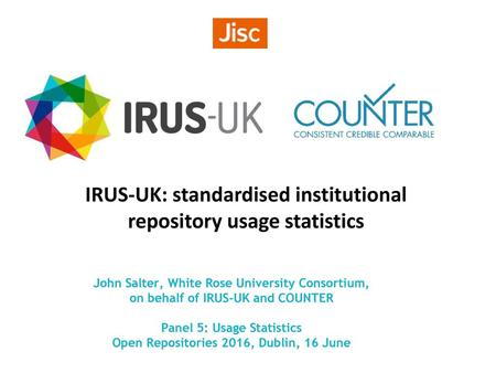 IRUS-UK: standardised institutional repository usage statistics
