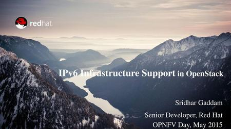 IPv6 Infrastructure Support in OpenStack