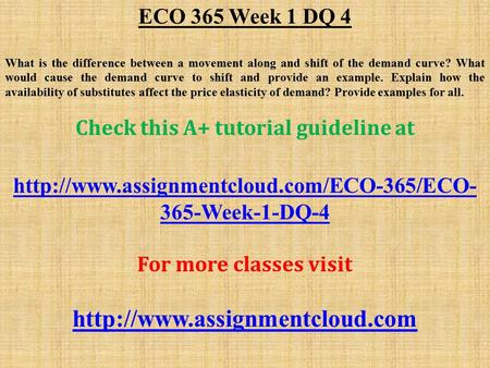 eco365 r6 supply demand curves Eco 365 final exam answer supply curves and demand curves supply curves and demand curves are among the most important visualizations to understand in the field of economics.