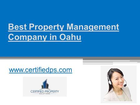 Best Property Management Company in Oahu