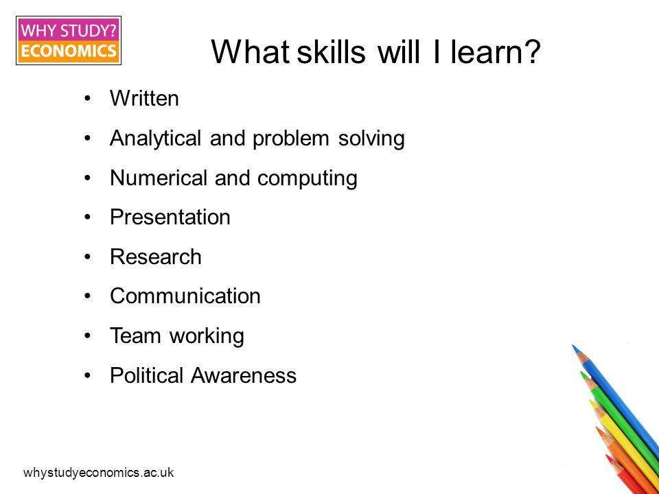 whystudyeconomics.ac.uk Economics alumni, what skills helped you to get your current job.