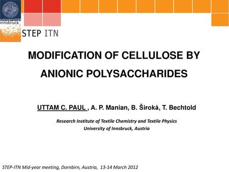 MODIFICATION OF CELLULOSE BY ANIONIC POLYSACCHARIDES