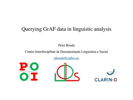 Querying GrAF data in linguistic analysis