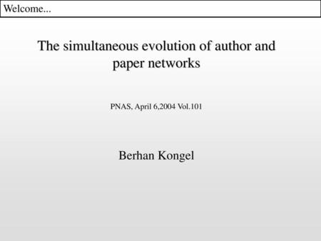 The simultaneous evolution of author and paper networks