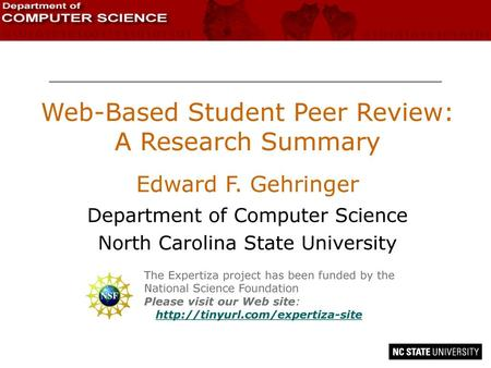 Web-Based Student Peer Review: A Research Summary