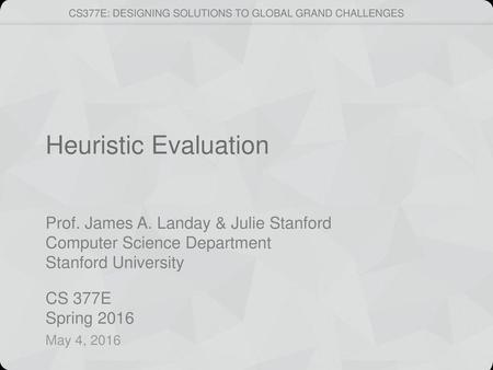 Heuristic Evaluation May 4, 2016