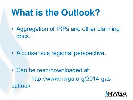 What is the Outlook? Aggregation of IRPs and other planning docs.