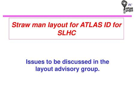 Straw man layout for ATLAS ID for SLHC
