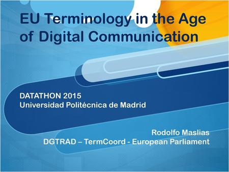 EU Terminology in the Age of Digital Communication