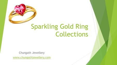 Sparkling Gold Ring Collections Chungath Jewellery