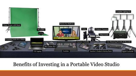 Benefits of Investing in a Portable Video Studio.