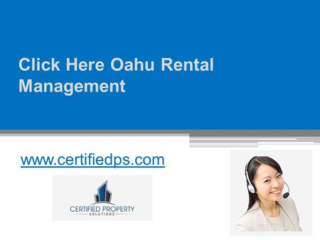 Click Here Oahu Rental Management
