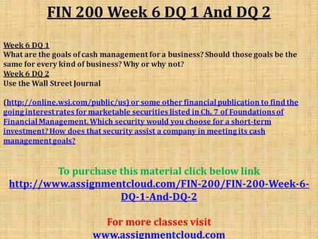 fin 200 credit policy decisions Finance fin 250 math 236, econ 201 and econ 200 fin 301 principles of finance 3 credits spreadsheet skills in finance 1 credit.