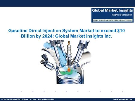 Right. gasoline direct injection market penetration think, that