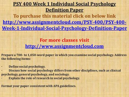 psy 490 week one the diverse nature of psychology paper Psy 490 week 1 individual assignment the diverse nature of psychology paper/ uoptutorial for more course tutorials visit wwwuoptutorialcom write a 700- to 1,050-word paper in which you analyze the diverse nature of psychology as a discipline.