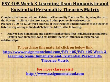 matrix week 3 psy 410 Essay about matrix grid hcs 455 week 2  essay about matrix grid hcs 455 week 2  2464 words oct 25th, 2014 10 pages  psy 410 week 2 and 3 matrix of disorders.
