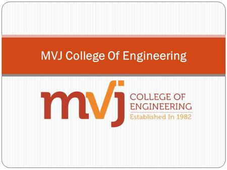 MVJ College Of Engineering Admissions