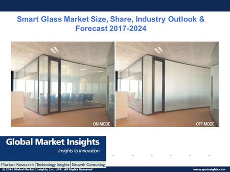© 2016 Global Market Insights, Inc. USA. All Rights Reserved  Smart Glass Market Size, Share, Industry Outlook & Forecast