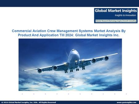© 2016 Global Market Insights, Inc. USA. All Rights Reserved  Commercial Aviation Crew Management Systems Market Analysis By Product.