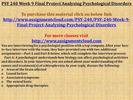 Final project psychological disorder analysis
