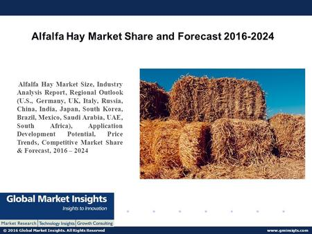 © 2016 Global Market Insights. All Rights Reserved  Alfalfa Hay Market Share and Forecast Alfalfa Hay Market Size, Industry.