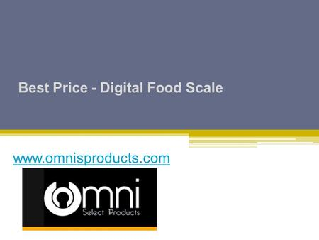 Best Price - Digital Food Scale