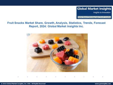 © 2016 Global Market Insights, Inc. USA. All Rights Reserved  Fuel Cell Market size worth $25.5bn by 2024 Fruit Snacks Market Share,