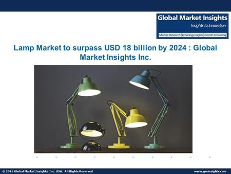 © 2016 Global Market Insights, Inc. USA. All Rights Reserved  Fuel Cell Market size worth $25.5bn by 2024 Lamp Market to surpass USD.